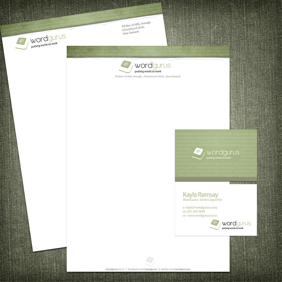 Business Cards And Letterheads line Gallery Card